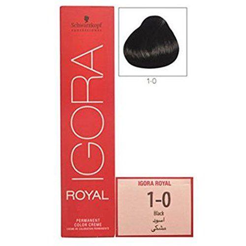 Schwarzkopf Igora Royal Permanent Color Crme No. 1-0 (Black) 60 ml with Ayur Freebie