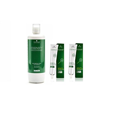 Schwarzkopf Essensity Hair Color Tube No. 4-99 Medium Brown Violet Extra 60 mL each (2 tube) + 1 Essensity Oil Developer 1000 ml