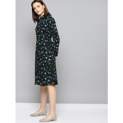 Chemistry Women Black Printed Shirt Dress
