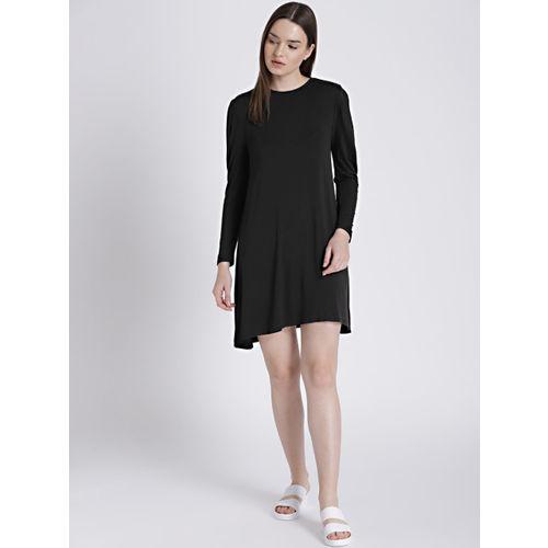Chemistry Women Black Solid A-Line Dress