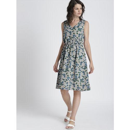 Chemistry Women Blue Printed A-Line Dress