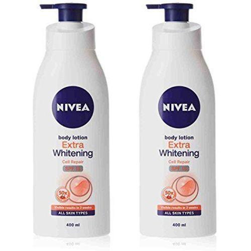 Nivea Extra Whitening Cell Repair SPF 15 Body Lotion-(2 x 400ml)(800 ml)
