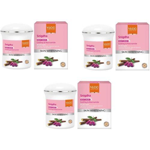 VLCC Snigdha Skin Whitening Night Cream (50 g)pack of 3(150 g)