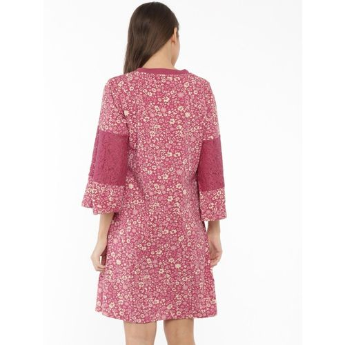 Chemistry Women Pink Printed A-Line Dress