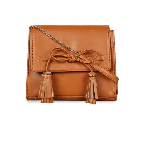 Berrypeckers Tan Solid Sling Bag