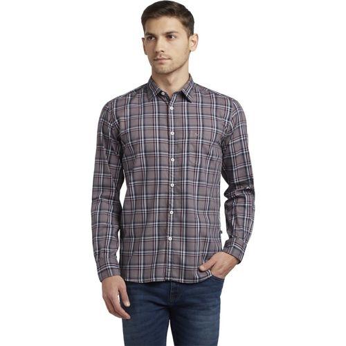 Parx Men Checkered Casual Grey Shirt