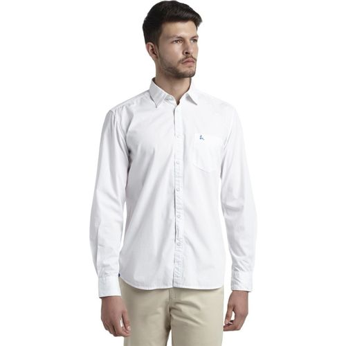 Parx Men Solid Casual White Shirt