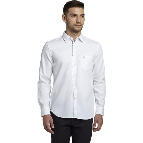 Parx Men Solid Casual White Shirt