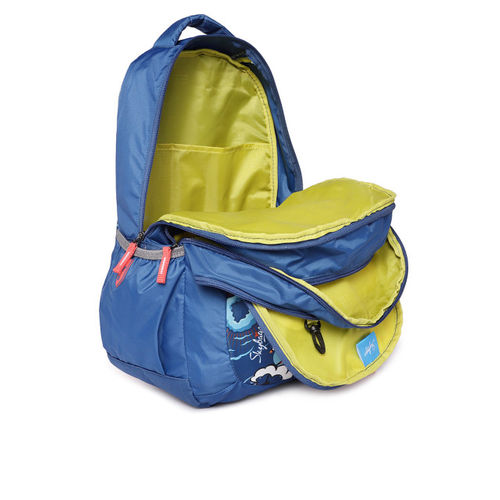 Skybags Figo Plus 05 Blue Unisex Backpack