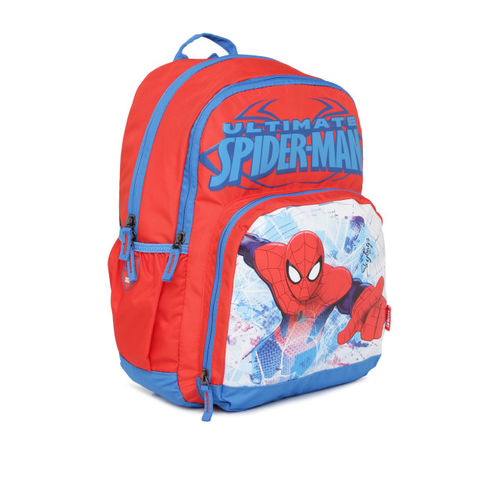 Skybags Red & Blue Unisex Graphic Backpack