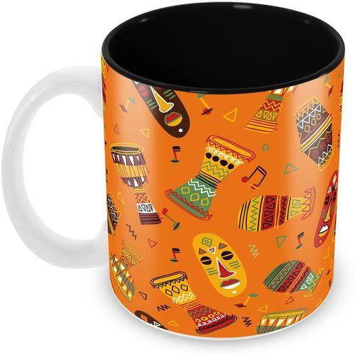 Tuelip Beautiful African Pattern For Tea & Coffee Ceramic Printed 350 ML Ceramic Mug(350 ml)