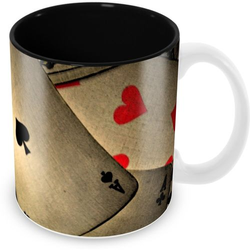 Tuelip Classic Playing Card Pattern Ceramic Ceramic Mug(350 ml)