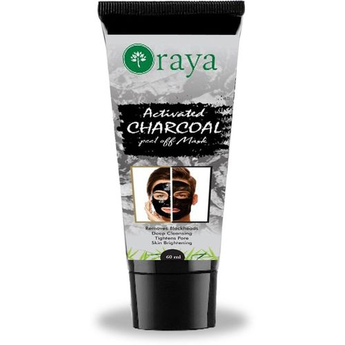 Oraya Activated Charcoal Peel Off Mask For Blackheads Removal, Deep Cleansing, Anti Acne, Anti Aging & For Skin Brightening For Men & Women 60 gram(60 g)