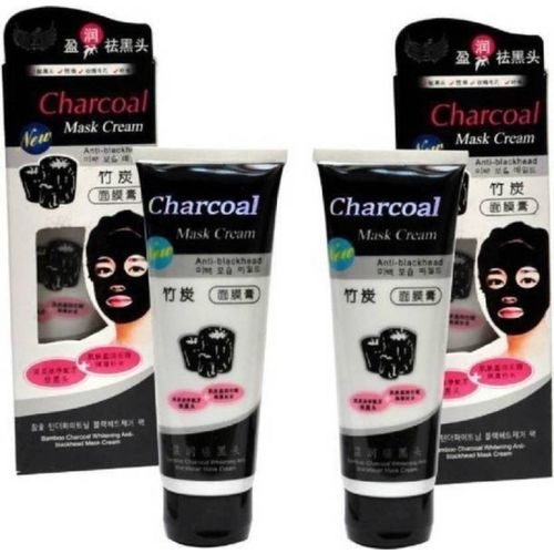 Shopimoz Face Skin Care Black Mud Bamboo Charcoal Mask Blackhead Remover Deep Clean Peel Off Mud Masks New (Pack of 2)(260 g)
