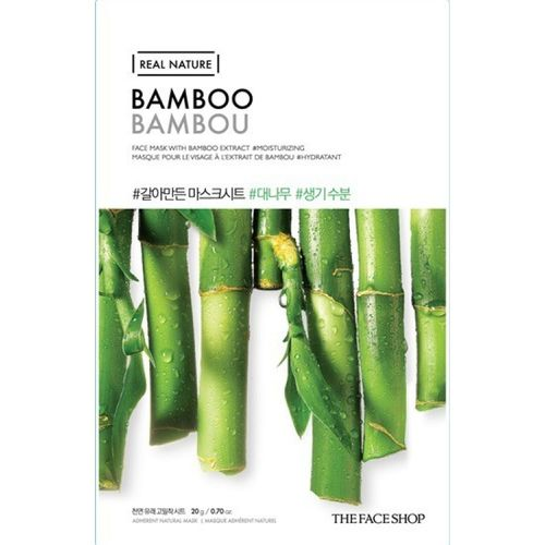 The Face Shop Unisex Real Nature Bamboo Face Mask (sheet mask)(20 g)