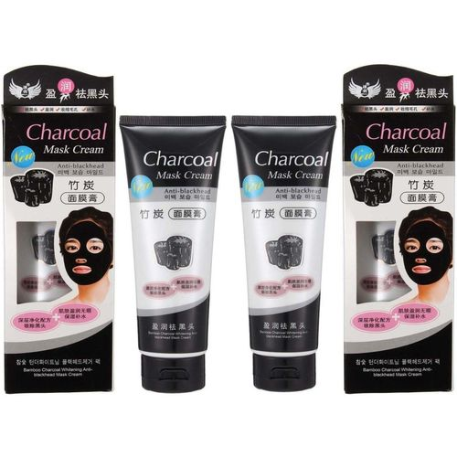 Charcoal Deep Cleansing & Instant Glow and Anti-Blackhead Suction Mask Cream 130g 2 Pack Of 2(260 g)
