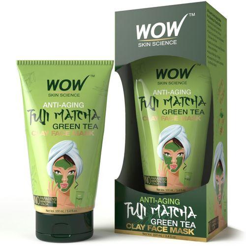 WOW Skin Science Anti-Aging Fuji Matcha Green Tea Clay Face Mask - 100 mL TUBE(100 ml)