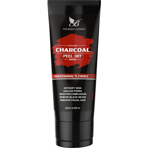 The Body Avenue Activated Charcoal Peel Off Mask, Deep Cleansing, Remove Blackheads, Skin Brightening(120 ml)