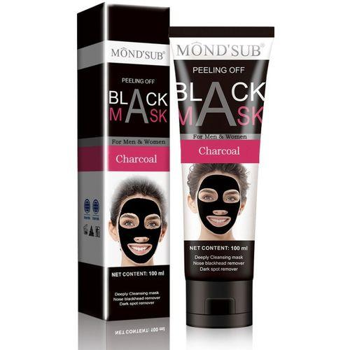 MONDSUB Mond'sub Acne Purifying Deep Cleansing Charcoal Black Peel off Mask for Blackhead Removal (100Ml)(100 ml)