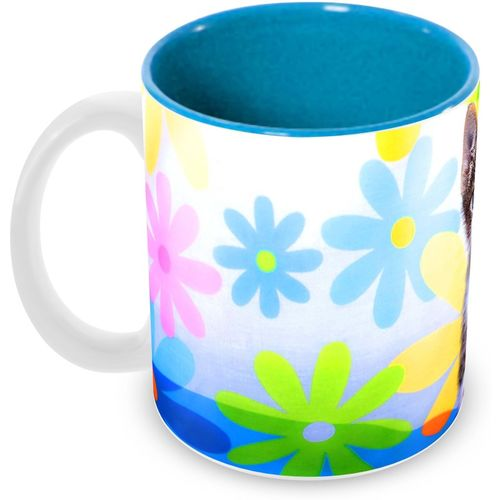 Tuelip Beautiful Printed Floral Kitty For Tea And Coffee Ceramic Mug(350 ml)