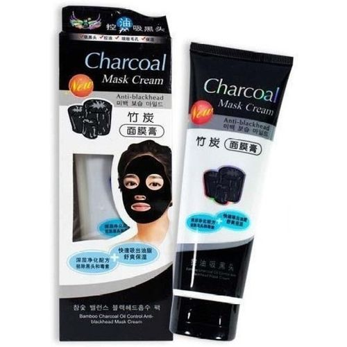 Woms Charcoal Black Peel Off Mask For Blackhead Removal From Nose & Acne Treatment(Pack Of 1) (130 g)(130 ml)