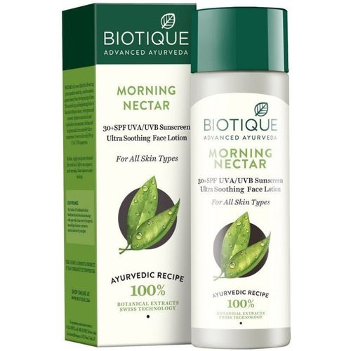 BIOTIQUE BIO Biotique Morning Nectar Ultra Soothing Face Lotion 30+ SPF Sunscreen, 120ml - SPF 30+ PA+(120 ml)