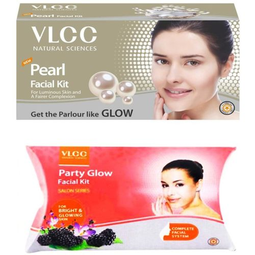 VLCC Original Pearl and Party Glow Facial Kit 120 g(Set of 2)