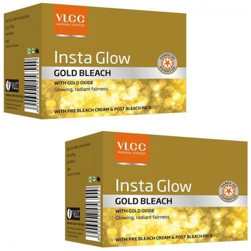 VLCC Insta Glow Gold Bleach pack of 2 120 g(Set of 2)