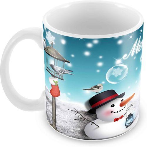 Tuelip Merry Christmas and New Year Printed Tea and Coffee 350 ml Ceramic Mug(350 ml)