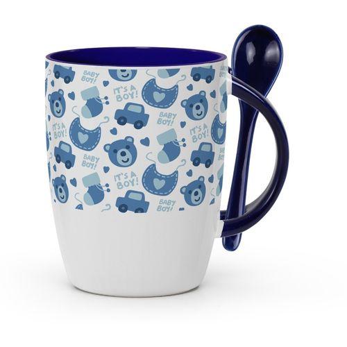 Tuelip Baby Boy for Tea and Coffee Printed With Spoon Ceramic Mug(350 ml)