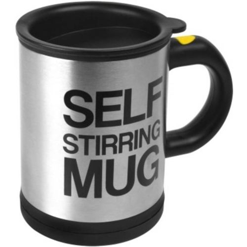 Tuelip Self Stirring Stainless Steel Mug(390 ml)