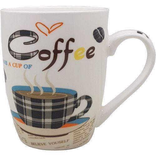 Tuelip Printed Coffee Lover Ceramic for Tea and Coffee Ceramic Mug(320 ml)