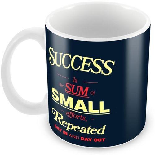 Tuelip Beautiful Success Pattern Ceramic Mug(350 ml)