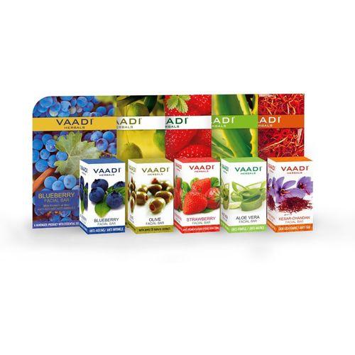 Vaadi Herbals Assorted Pack of 5 Facial Bars(25 g, Pack of 5)