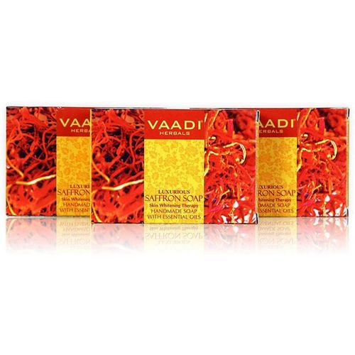 Vaadi Herbals Luxurious Saffron Soap - Skin Whitening Therapy (75 Gms)(75 g, Pack of 3)