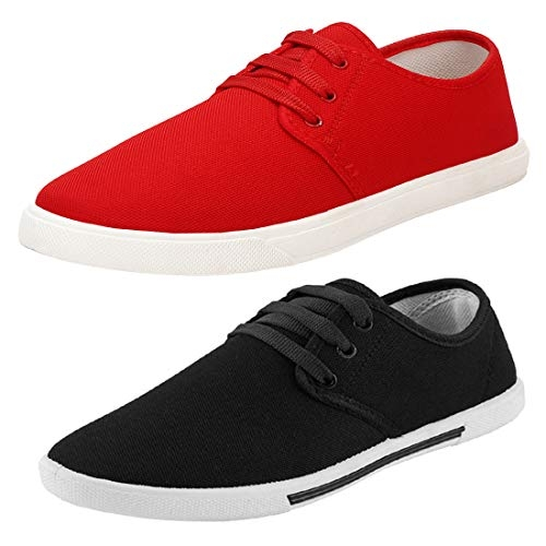 Bersache Combo(BR)-1077-349 Sneakers For Men(Red)