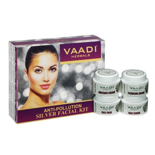 Vaadi Herbals Silver Facial Kit with Anti-pollution 70 GMS 70 g(Set of 4)