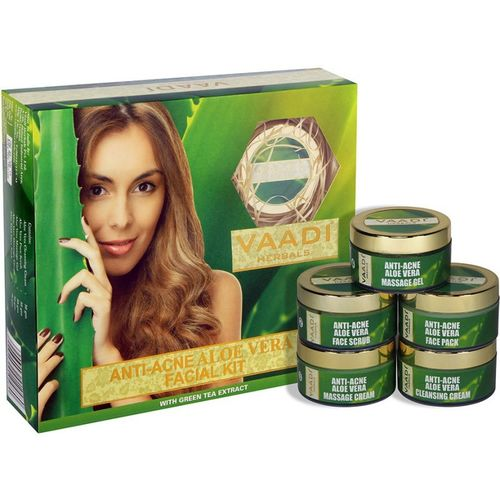 Vaadi Herbals Anti-acne Aloe Vera Facial Kit With Green Tea Extract (270 gms) 270 g