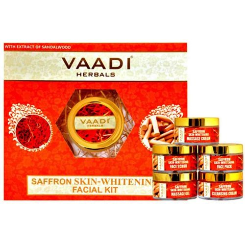 Vaadi Herbals Saffron Skin-whitening Facial Kit With Sandalwood Extract (270 gms) 270 g(Set of 5)