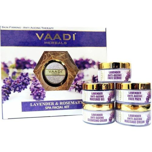 VAADI Lavender Anti-Ageing SPA Facial Kit with Rosemary Extract 270 gms(Set of 5) 270 g