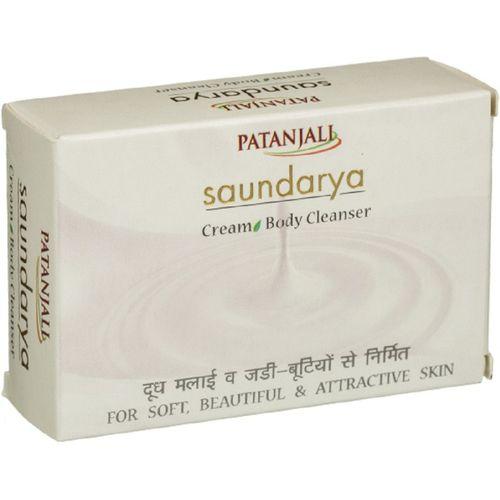 Patanjali Saundarya Cream Soap(75 g, Pack of 4)