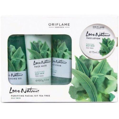 Oriflame Love Nature Facial Kit Tea Tree (Pack Of 4) 425 ml(Set of 4)