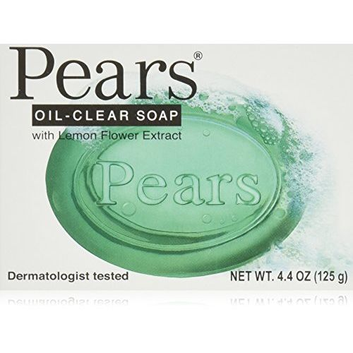 Pears Oil-clear, Bar Soap, With Lemon Flower Extract, Dermatologist Tested, 4.4 Oz by Pears by Pears