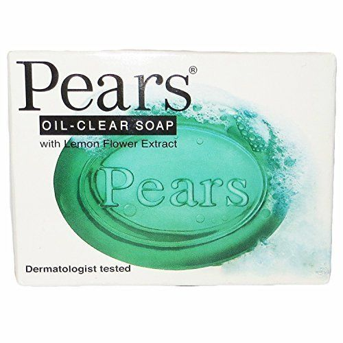 Pears Oil-clear Bar Soap, with Lemon Flower Extract, Dermatologist Tested, 3.5 Ounces by Pears