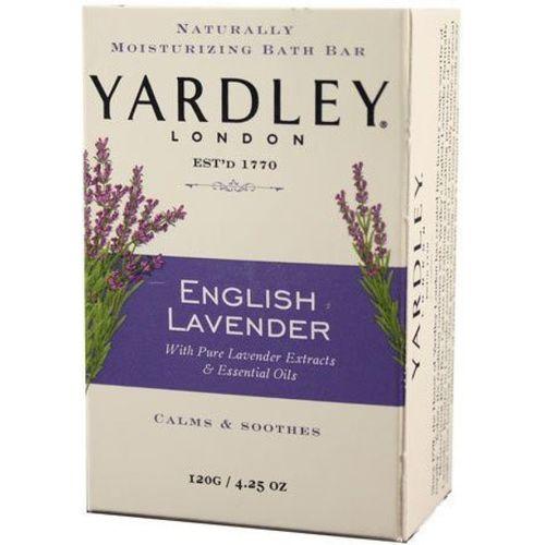 Yardley London London Soap Bath Bar, English Lavender & Essential Oils, 4.2 120 G(120 g, Pack of 8)