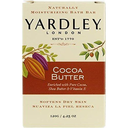 Yardley London Naturally Moisturizing Bath Bar Cocoa Butter 4.25 OZ - Buy Packs and SAVE (Pack of 3)