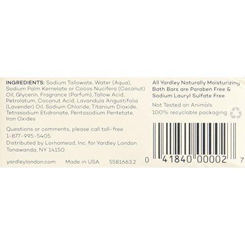 Yardley English Lavender Bar Soap 4.25 Oz By Yardley (Pack Of 6)