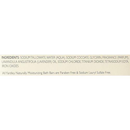 Yardley London Soap Bath Bar English Lavender and Essential Oils, 120g (Pack of 8)