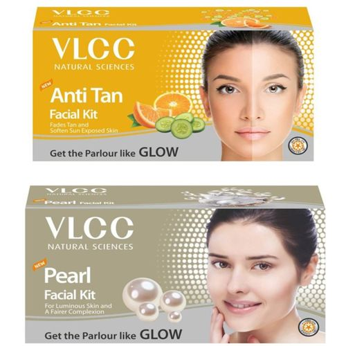 VLCC Original Anti-Tan and Pearl Facial Kit 120 g(Set of 2)