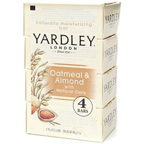 Yardley Soap Oatmeal And Almond, 4.25 oz (Pack of 3)